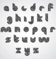 Modern shape black letters vector image