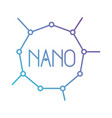 nano molecular structure in color gradient vector image vector image