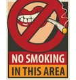 no smoking in this area vector image