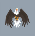 north american bald eagle character flying symbol vector image vector image