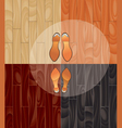 parquet and shoes vector image vector image