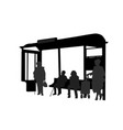 passengers at bus station vector image