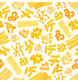 pasta and italian macaroni seamless pattern vector image