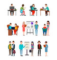 people lern new information set vector image vector image