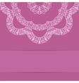 Pink card with ornate zentagle style pattern vector image vector image