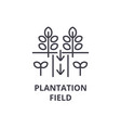 plantation field line icon outline sign linear vector image vector image