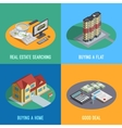 Real Estate 4 Isometric Icons Square vector image