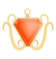 red garnet jewelry mockup realistic style vector image