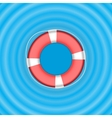 Ring life buoy on water vector image