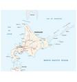road map japanese island hokkaido vector image vector image