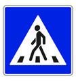 roadsigns on white crosswalk vector image