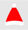 santa claus hat icon merry year vector image