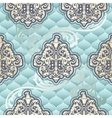 Seamless Rococo floral in blue vector image vector image