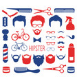 set dress up with different men hipster vector image