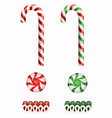 set isolated christmas candies vector image vector image
