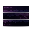 Set of black lace banners vector image vector image