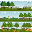 set of hunter concept flat posters banners vector image vector image
