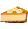 Slice of banana cheesecake vector image vector image