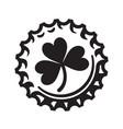 st patricks day symbol shamrock clover leaf on vector image vector image