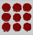 stamp wax seal icons set vector image vector image