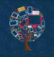 technology device tree for internet concept vector image vector image