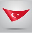turkish flag background vector image