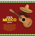 viva mexico poster celebration vector image vector image