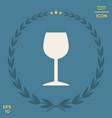 wineglass icon symbol vector image