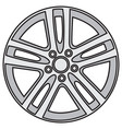 image of light-alloy rims vector image