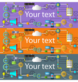 Web and application development banner with icons vector image