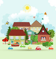 Cute Summer cityscape vector image