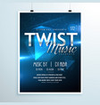 abstract music party flyer template invitation in vector image