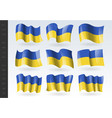 3d waving flag ukraine isolated on white vector image vector image