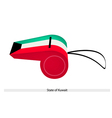 A Whistle of The State of Kuwait vector image