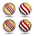 abstract globes vector image vector image