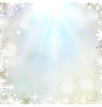 Abstract holiday Christmas golden light background vector image