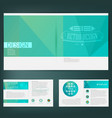 abstract template design brochure web sites page vector image