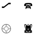 airport icon set vector image vector image