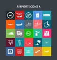 airport icons vector image vector image