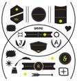 black modern silhouette empty emblems set vector image vector image