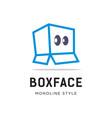 box face logo vector image