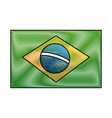 brazil national flag insignia nation image vector image