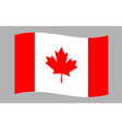 canada flag canvas wave pattern vector image vector image