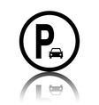 Car parking sign vector image