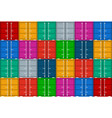 cargo container in port from ship stack vector image