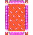 circus horse red and pink carpet design vector image vector image