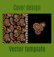 cover design with paisley pattern vector image vector image