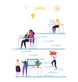 coworking space concept coworkers characters vector image vector image