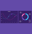 creative of web dashboard vector image