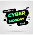 cyber monday discount sale concept inscription vector image vector image